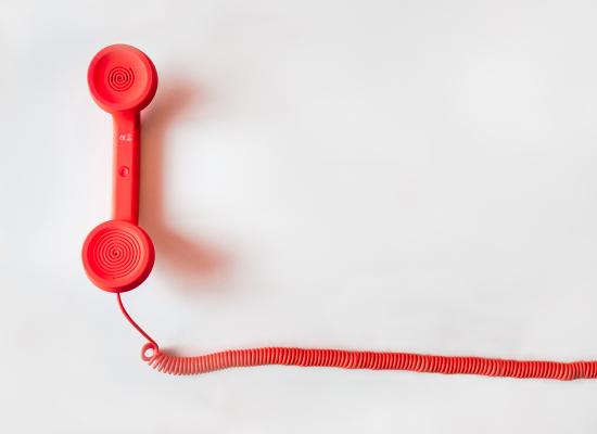 red phone with cord