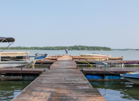 View from the dock at Pickerel Park
