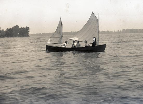 old photo of sailboat