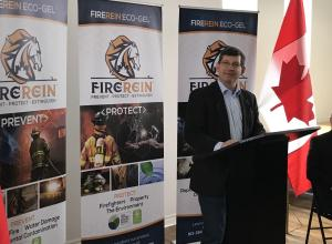 Mike Bossio at FireRein announcement