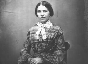 black and white picture of a lady