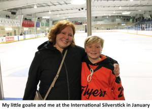 mother and son at hockey